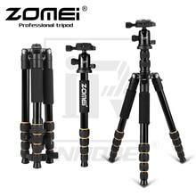 New ZOMEI Q666 Professional Aluminium Alloy Tripod Kit Monopod Ballhead For Travel DSLR Camera Light Compact Portable Stand