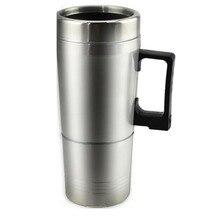 Heißer Wasser Heizung Becher für Auto-Auto Elektrische Wasserkocher Beheizte edelstahl Tragbare Heizung Tasse mit Ladegerät 12 Volt /24Volt