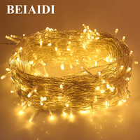 BEIAIDI 100M 800 LED Christmas LED String Light Outdoor Christmas Tree Wedding Party Fairy String Garland Patio Holiday Lighting