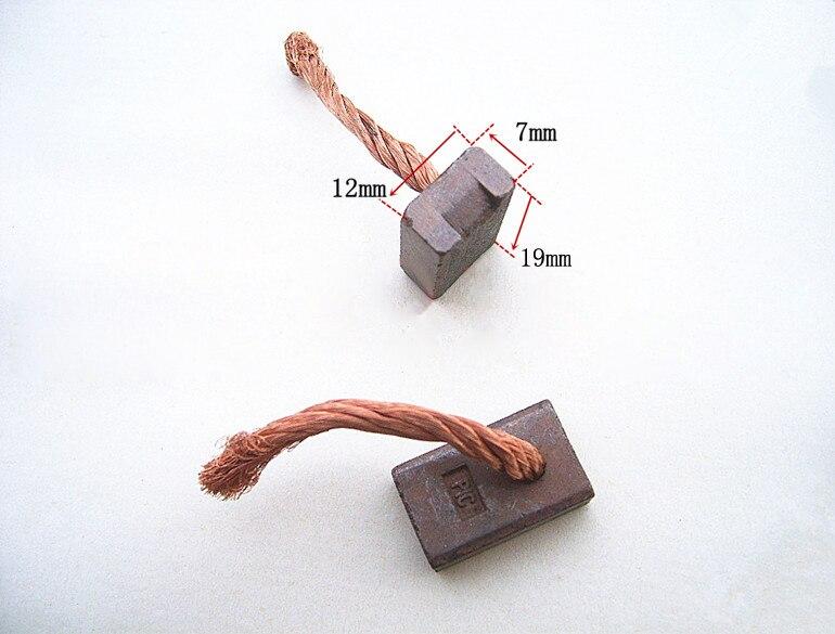 Car Starter Carbon Brush Regulator Copper Carbon Brushes  (Size:7*12*19mm)
