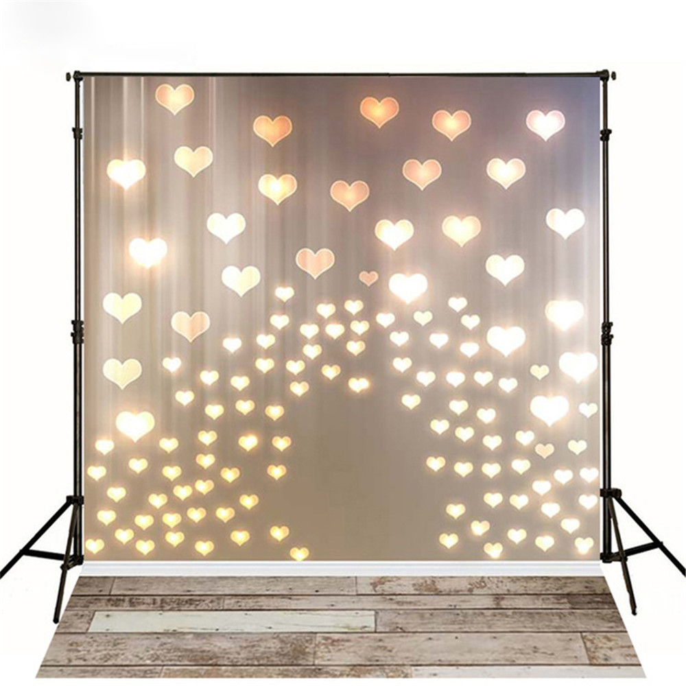 Glitter Love Hearts Printed Wall Baby Photography Backdrops New Born Photoshoot Props Valentine's Day Kids Background Wood Floor allenjoy photography backdrops love white wood board floor red hearts branches valentine s day wedding photo booth profissional