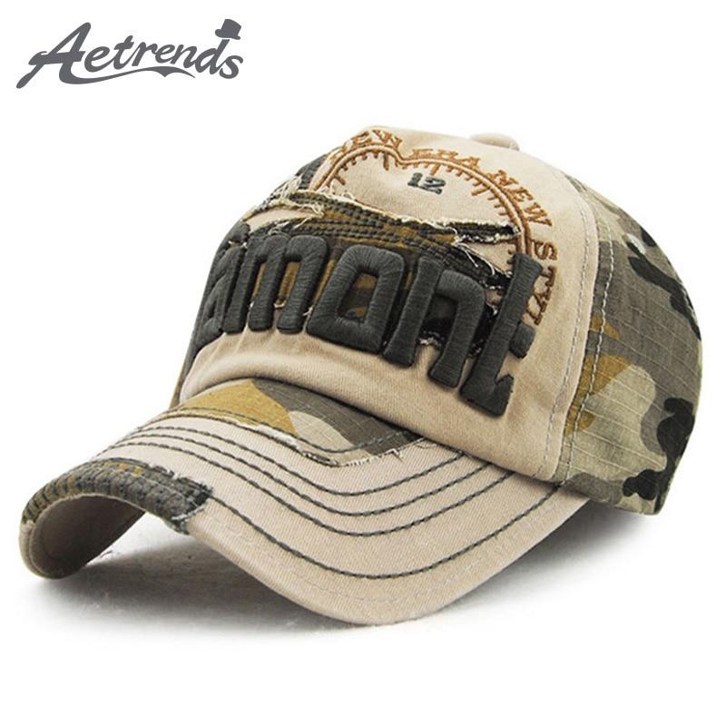 [AETRENDS] Gorras de béisbol de camuflaje vintage Snapback Gorras - Accesorios para la ropa