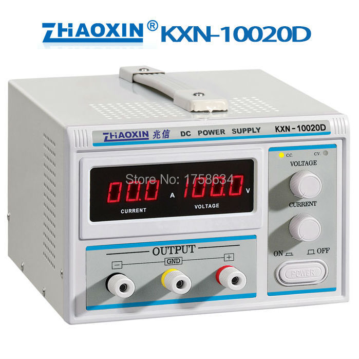 KXN-10020D Switching Regulated Adjustable DC Power Supply SMPS Single Channel 0-100V 0-20A Variable intex 10020
