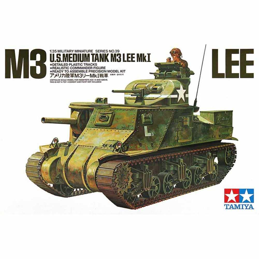 Tamiya 35039 1/35 ONS Medium Tank M3 Lee Mk I Militaire Vergadering AFV Model Building Kits oh rc speelgoed