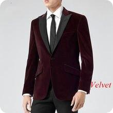Винно красный бархатный мужской блейзер бордового цвета мужские