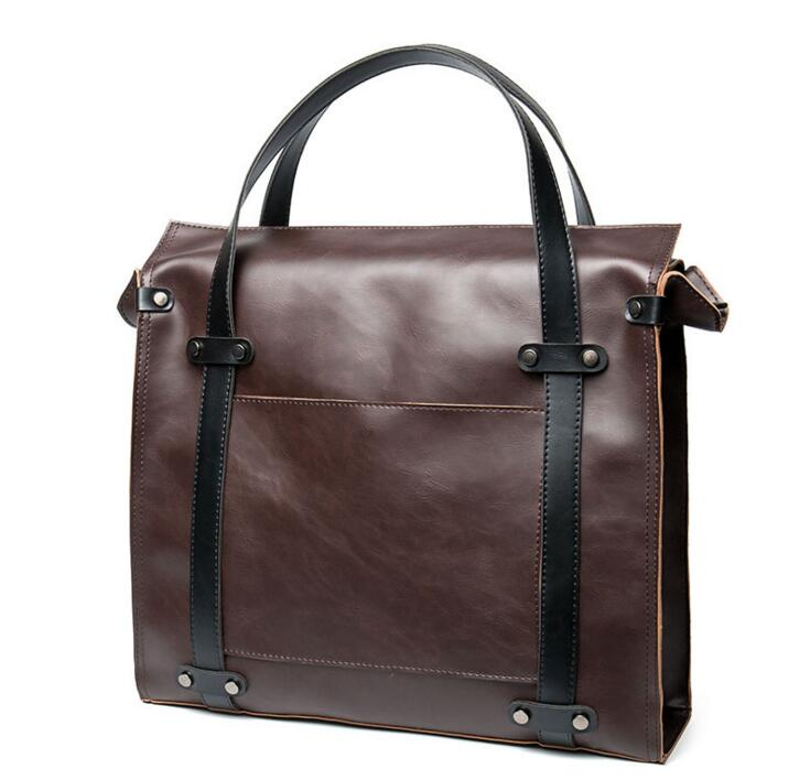 a4b0b74e39c Yesetn saco 092316 venda quente homem de couro do vintage bolsa grande  sacola