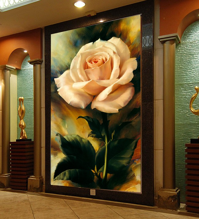 Photo wallpaper 3D TV background wall hand-painted flower porch bedroom living room wallpaper mural book knowledge power channel creative 3d large mural wallpaper 3d bedroom living room tv backdrop painting wallpaper