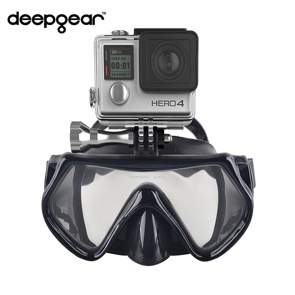 Камера Deepgear Gopro маска для дайвинга маска из закаленного стекла для подводного плавания черная силиконовая маска для подводного плавания дл...