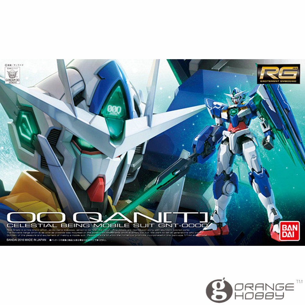 OHS Bandai RG 21 1/144 GNT-0000 OO Qan T Gundam Mobile Suit Assembly Model Kits oh ohs bandai rg 24 1 144 gundam astray gold frame amatsu mina mbf p01 re2 mobile suit assembly model kits oh
