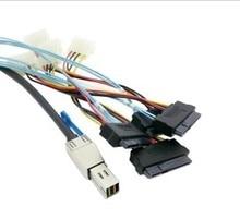 Mini sas SFF-8644 to 4*SFF-8482 External hard disk data cable 100cm