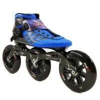 Углерода Скорость Роликовых Коньков 3*125 мм большие колеса для детей взрослого конкурса уличные гонки Спортивная обувь Обучение Patines Bstfamly f050