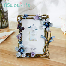 7 Inch Metal Retro Creative Photo Frame Rustic Style Childrens Picture Frames Desktop Decoration For Household Products