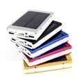 Portable Solar Power Bank 12000 MAH externa bateria portatil LED Dual USB Powerbank Teléfono Móvil Cargador de Batería de Reserva Externa