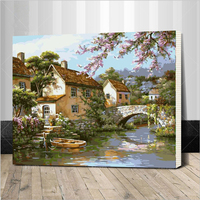 Landscape Framed Picture Painting By Numbers DIY Oil Painting On Canvas Home Decoration For Living Room