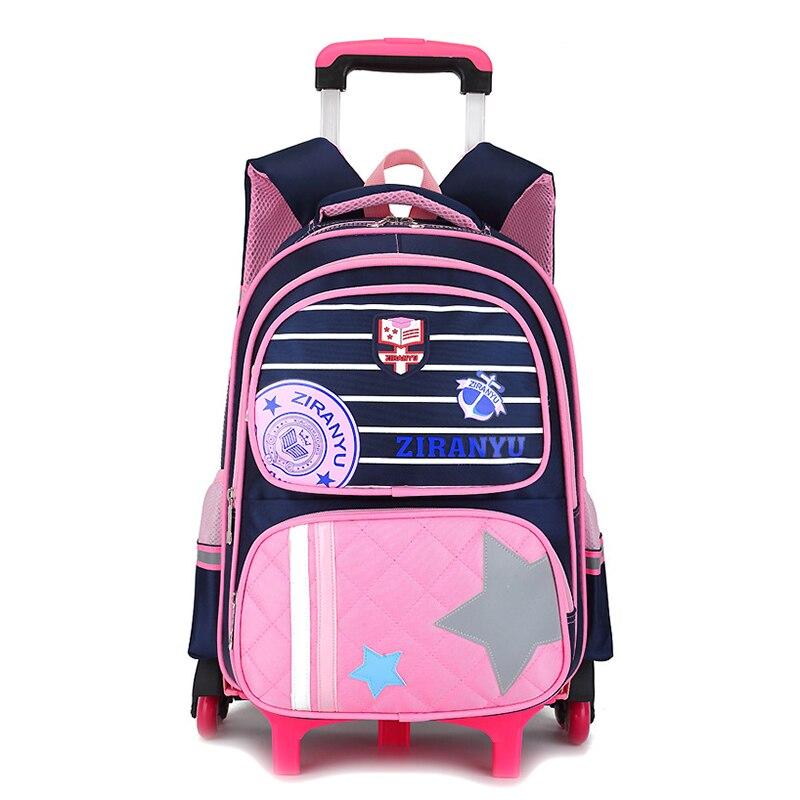 Bag Trolley-Bag Stair-Backpack Six-Wheel Large-Capacity Primary-School Kids Children's