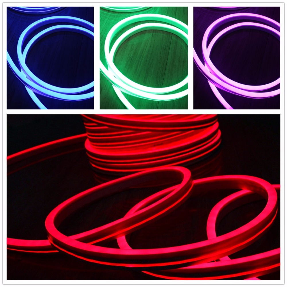 Mini RGB led neon flex light strip 24v 5050 smd tape color