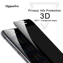 Oppselve 3D Curved Full Cover Anti Peeping Glare Privacy Screen Protector For iPhone X XS MAX XR 10 6 6S 7 8 Plus Tempered Glass