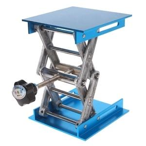 "Image 2 - 1 pc 4 ""x 4"" roteador de alumínio mesa elevador carpintaria gravura suporte de levantamento de laboratório rack"