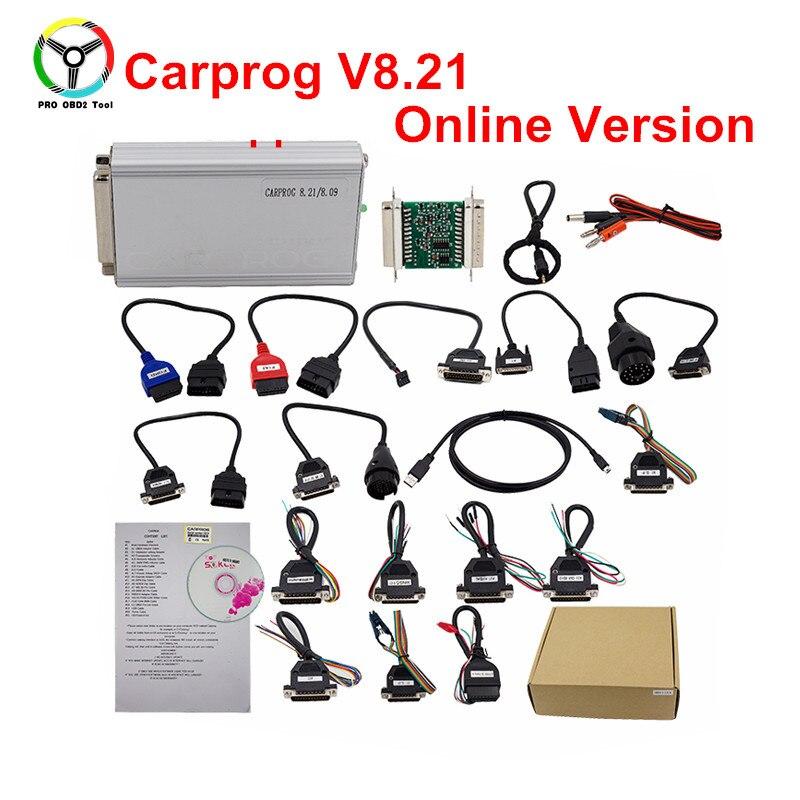 Programación en línea Carprog V8.21 ecus Chip Tuning Prog 8,21 y V9.31 incluyendo mucho más autorización trabaja en Win7/ 8/10 XP
