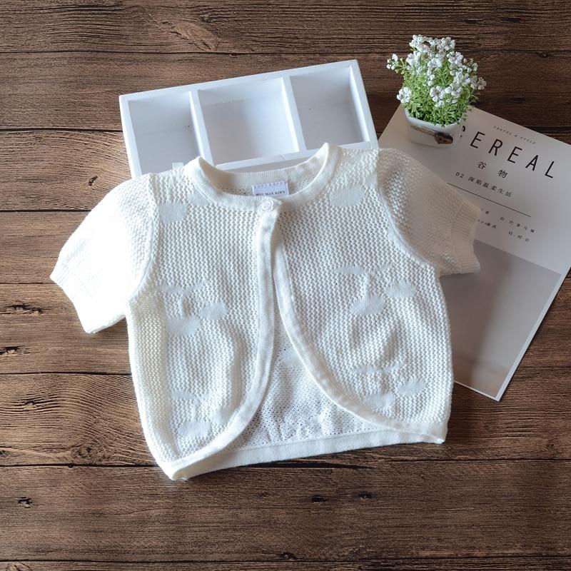 Coats Cardigan Jacket Newborn Girl Toddler Baby Infant Summer White 12 Thin RKC194008