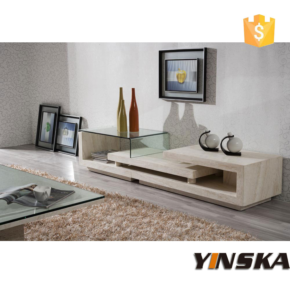 Fancy design marble tv stand furniture stone tv cabinet for Meuble console tv