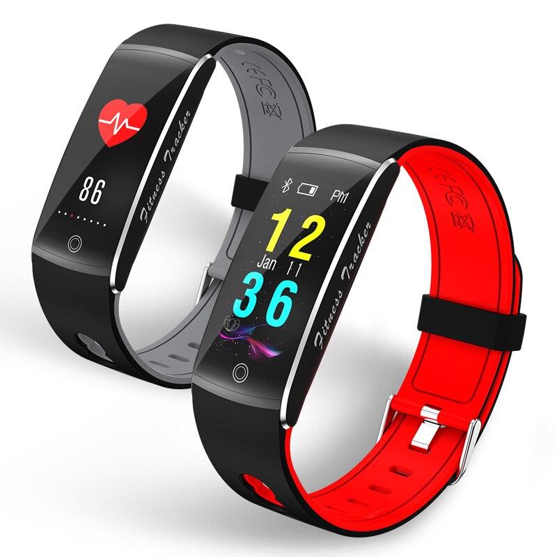 2018 спортивные умные часы Для мужчин Для женщин Мода монитор сердечного ритма Bluetooth сенсорные часы умный браслет в виде часов для бега IOS Android