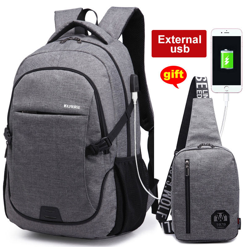 Fashion backpack High capacity travel backpack teenager student school backpack With USB socket 15inch laptop bussiness backpack