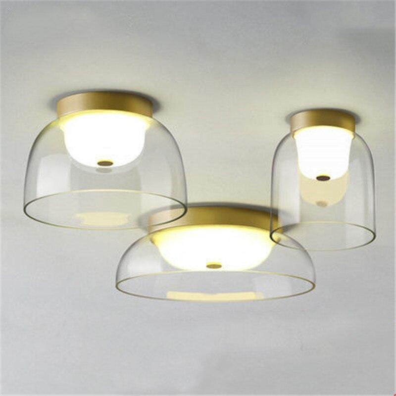 北欧アートボウルデザインリビング Led ガラス天井ランプクリエイティブバルコニー通路ライト寝室ルームのコーヒーショップランプ - Smartle Lighting Store
