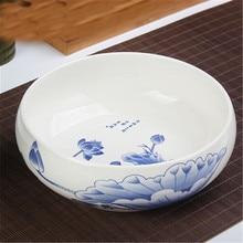 Большие чаши для китайской чайной посуды керамические чайные сервизы аксессуары для мытья воды чаши 1 шт