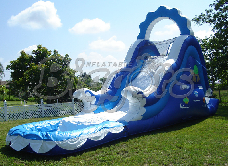 10M*3M*4.5M Outdoor Giant PVC Commercial Inflatable Water Slide With Pool For Kids