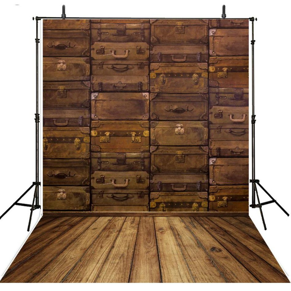 old Trunk rustic vintage faux wood backdrops Vinyl cloth High quality Computer print wall photo studio background custom vinyl cloth old letter wall wood