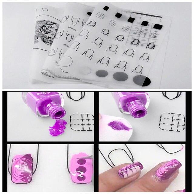 Nail Art Practice Silicone Mat Pad Polish Stamping Transfer DIY ...