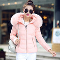 2017 Fashion High Quality Autumn Winter women Slim Warm jacket made of goose cotton woman thick parkas for woman DWF08