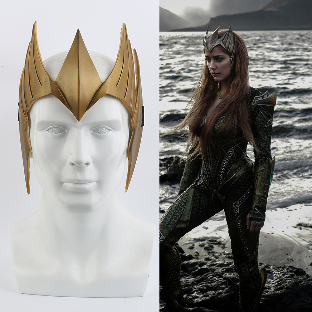 Justice League Aquaman Mera Tiara Crown Cosplay Mera Headband PVC Headwear Princess Crown Mera Costume Accessories Cosplay Prop