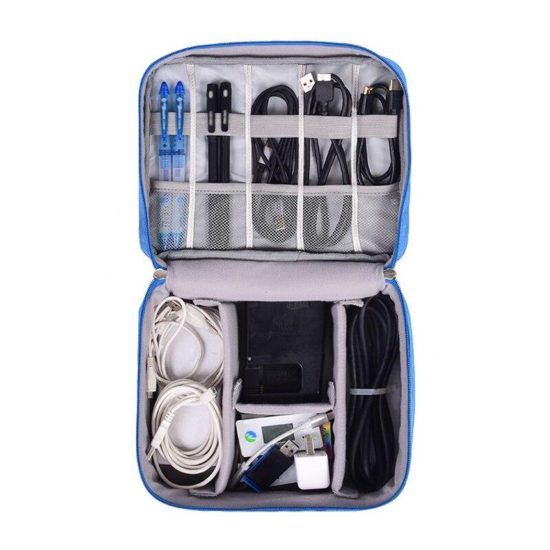 Bolsa de Cable Digital para hombres, accesorios portátiles de viaje, bolsa de cargador de Cable de alimentación, auriculares, organizador, accesorios de maleta electrónica