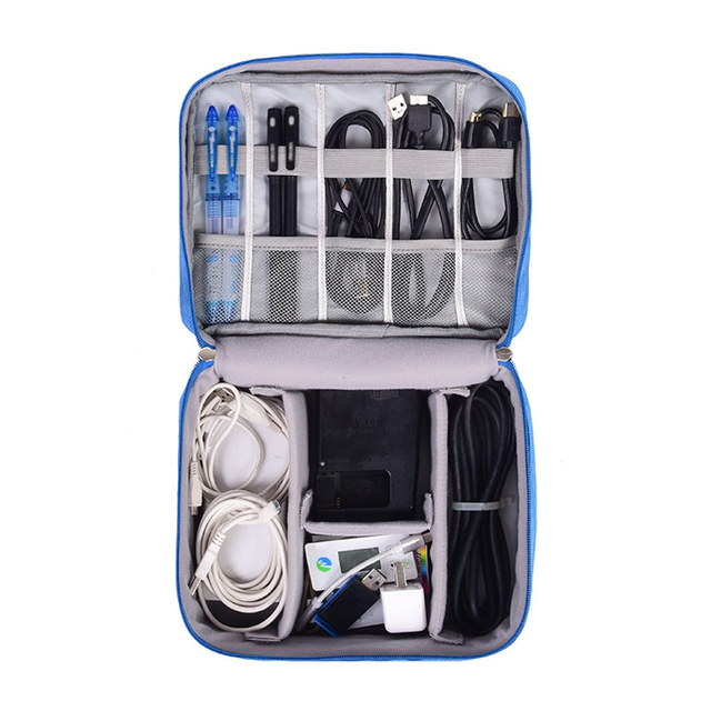Travel Portable Digital Cable Bag – Gadgets, Power Cord, Charger, Headset, Electronics Organizer