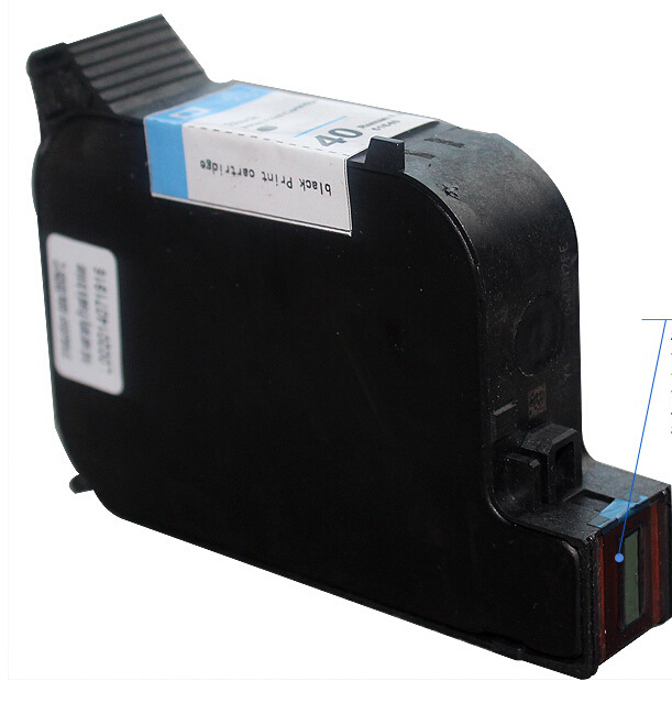 Hisaint 1 pcs Para HP 40 C51640A Cartucho de Tinta Preta Para HP Designjet430c 330 350C 230 250C 1200C 1200 ps venda Quente Real