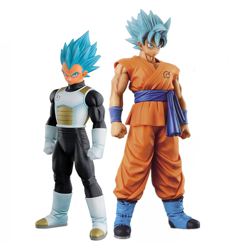Dragon Ball Z Resurrection F Son Gokou & Vegeta Super Saiyan God PVC Action Figure Toys Boys Girls Christmas Birthday Gift 17cm