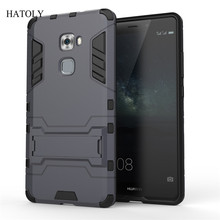 Armor Case For Huawei Mate S Heavy Duty Hybrid Hard Soft Rugged Silicone Rubber Phone Back Cover Coque Case with Stand Function