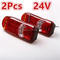 Universal 1Pair Truck LED Rear Indicator Stop Reverse Fog Lights