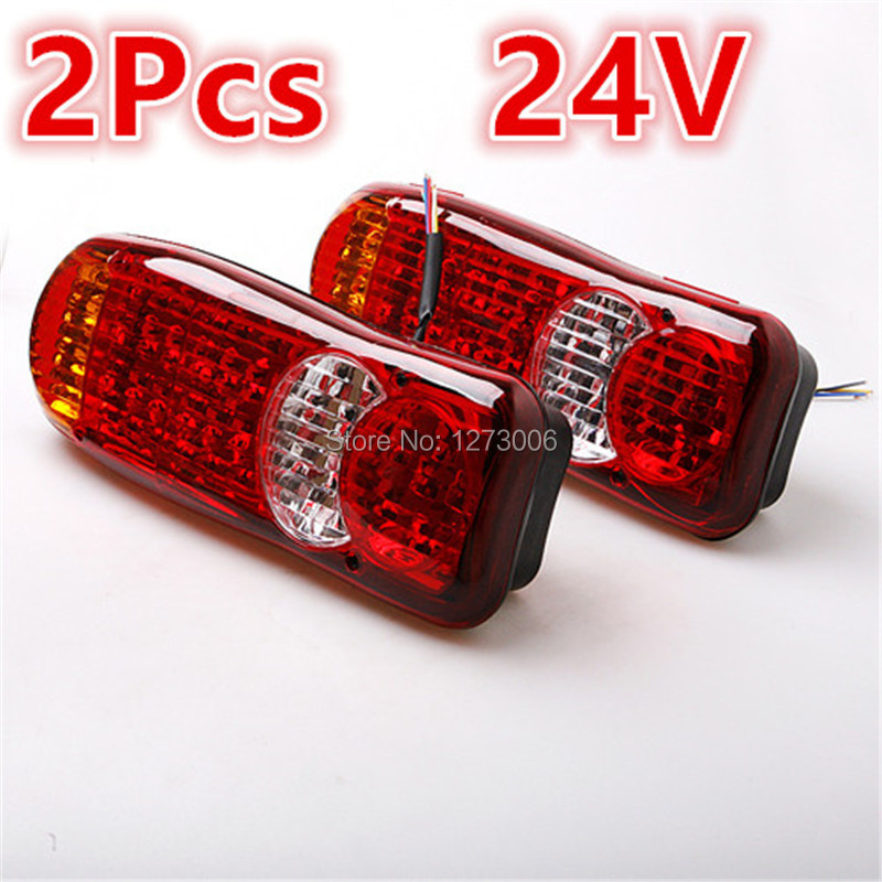 Waterproof 1 Pair 24V Truck LED Tail Light Rear Lamp Stop Reverse Safety Indicator Fog Lights for Trailer Truck Car Taillights 1 pair 24v 36 led trailer car truck led tail light lamp auto rear light tail light