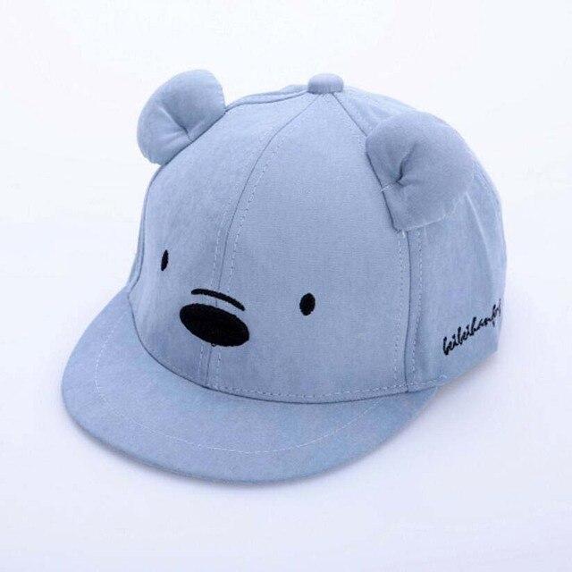Children Baseball Cap For Kids 2019 Spring New Baseball Hat Adjustable Girl Boys Caps Cartoon Bear Embroidery Plat Brim Cap