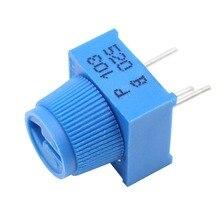MCIGICM потенциометр комплект 1K 5K 100K 10K Ом макетная плата отделка потенциометра с ручкой для Arduino(упаковка из 10