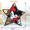 2pcs/set 22cm*22cm Minnie mouse Sequin Series Embroidered Sew-On Patches For Clothes Garment Applique DIY Accessory
