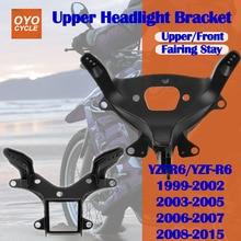 For 99-15 Yamaha YZFR6 YZF R6 Upper Front Headlight Headlamp Bracket Fairing Stay Head Cowling 1999 2000 2001 2002 2003-2015