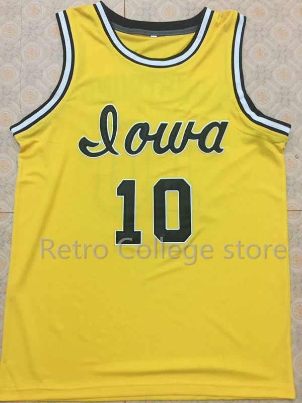 #10 B.J. ARMSTRONG Iowa Hawkeyes college Mens Basketball Jersey embroidery Stitched Custom Any name and number#10 B.J. ARMSTRONG Iowa Hawkeyes college Mens Basketball Jersey embroidery Stitched Custom Any name and number