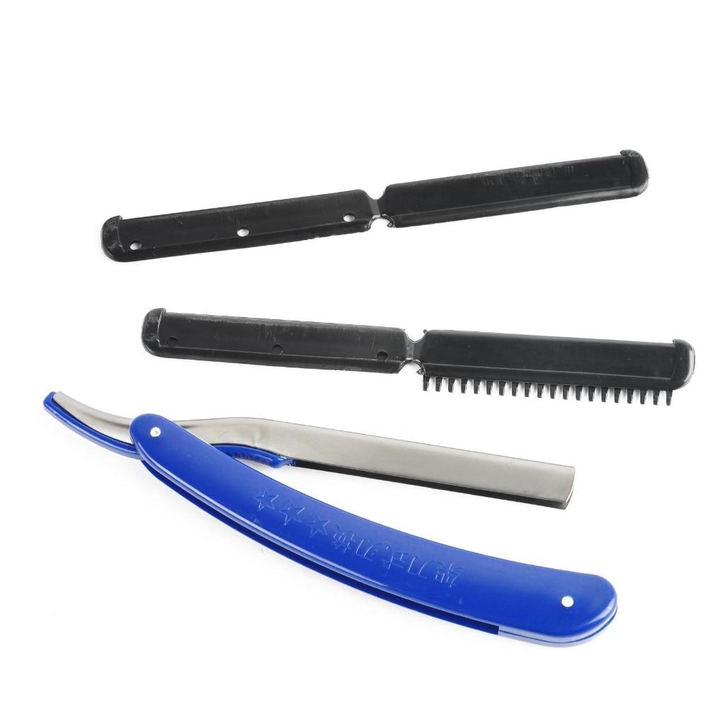 Salon bleu Vintage Bord Barber Rasoir Professionnel Pliant Couteau ...