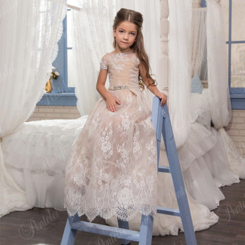 2017 Communion Party Prom Princess Pageant Bridesmaid Wedding Flower Girl Dress girl communion party prom princess pageant bridesmaid wedding flower girl dress new dress