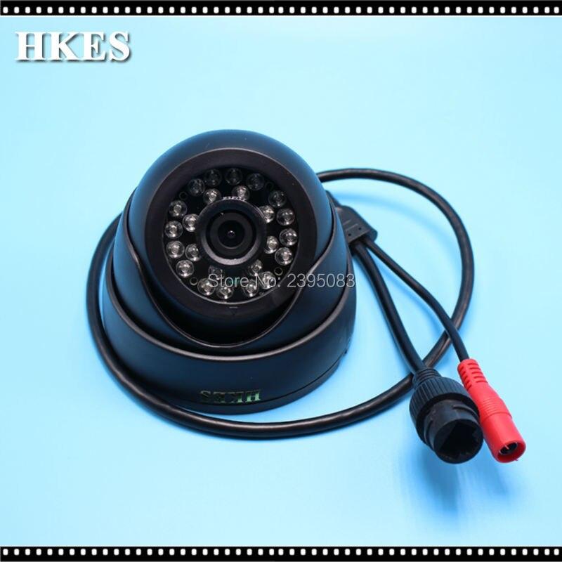 HKES 4pcs/lot HD 1080P 2MP 24pcs Leds IP Camera ONVIF IR CUT Night Vision P2P Plug and Play IR Dome Cam Indoor NVSIP 4pcs lot 960p indoor night version ir dome camera 4 in1 camera 3 6mm lens p2p onvif abs plastic housing