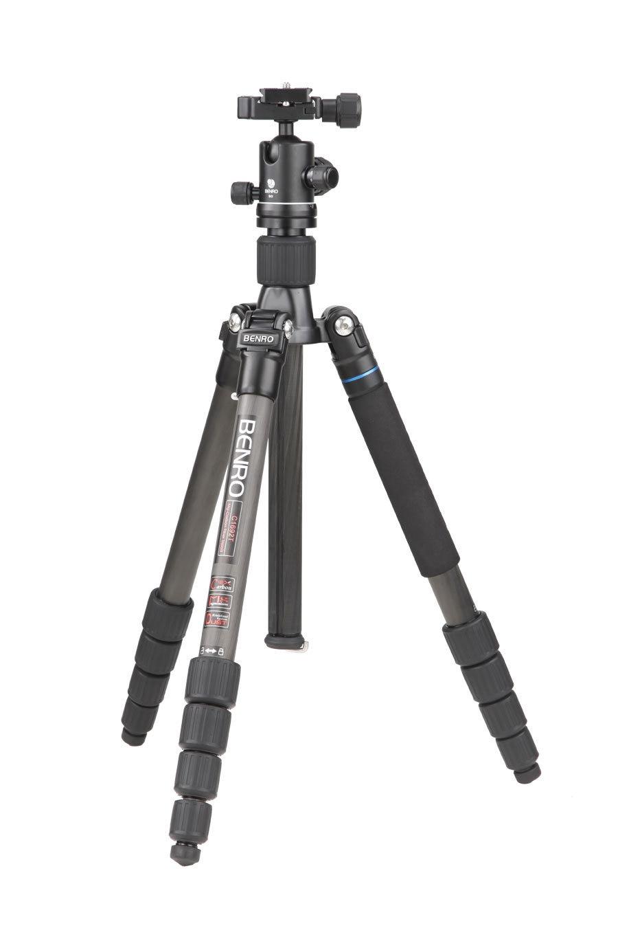 Benro C1692TB0 Carbon Fiber Tripod Kit Compact Tripod With B0 Professional Ball Video Head Portable Photography Set For Hiking benro a 0190 b 00 a0190tb00